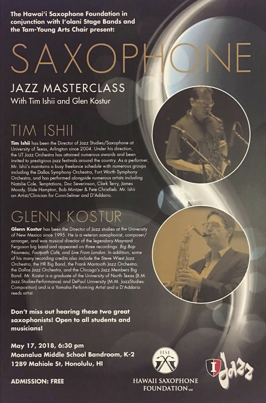 Jazz Masterclass - May 17, 2018 - Hawaii Saxophone Foundation, LLC